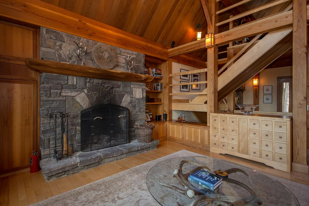 Granite fireplace and even a dumbwaiter for wood.