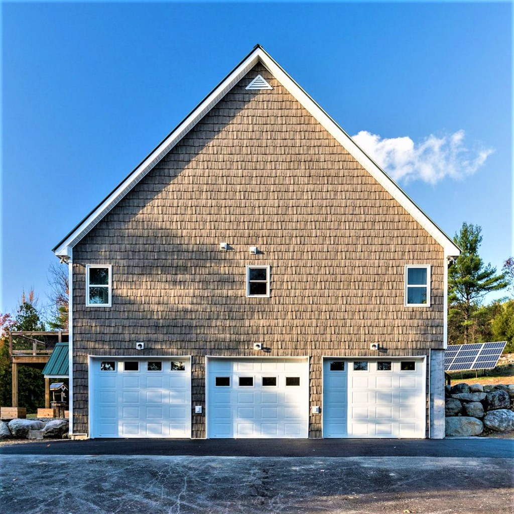 Oversized garage with storage areas